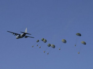 Aerial-delivery-parachute-system-of-a-special-purpose